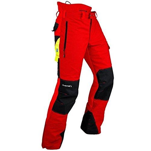 Pfanner Schnittschutzhose Klasse 2 24 m/s, Farbe:rot, Größe:M