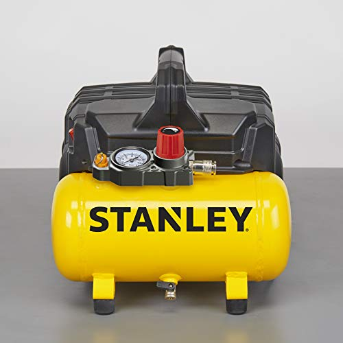 Stanley 100/8/6 Silent Air Compressor DST 100/8/6SI, 750 W, 230 V, Giallo - 2
