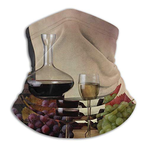 BaoBei-shop Lebensmittel Trauben Wein Hals Gamasche Wärmer Winddichte Maske Staub Gesicht Kleidung UV-Gesichtsmaske Sturmhaube Schal für Ourdoor Sport