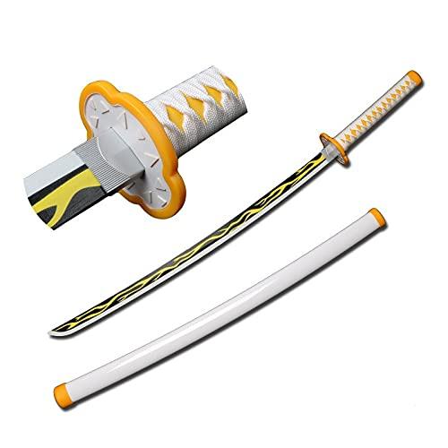 MOMAMOM Espada De Madera Japonesa De Anime Samurai, De Demon Espada De 104 Cm Katana Ninja De Madera Coleccionables Juguetes para Adolescentes Y Niños Regalos De Cumpleaños