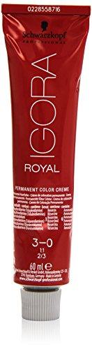 Schwarzkopf IGORA Royal Premium-Haarfarbe 3-0 dunkelbraun, 1er Pack (1 x 60 ml)