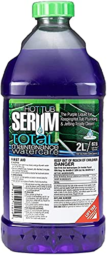 Hot Tub Serum - an EPA Registered Weekly Maintenance Bio-Cleaner/Clarifier/Conditioner/Softener All-in-One 2 Liter (24 Weekly doses)