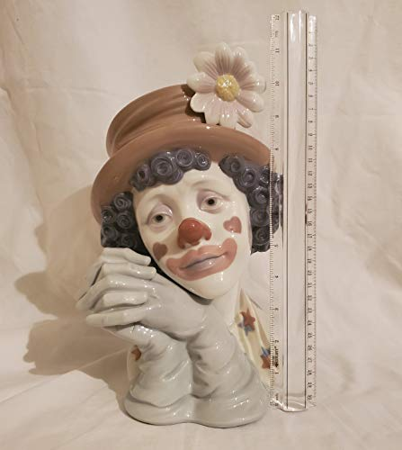 Lladro Glazed Porcelain Clown Head Collectible Figurine