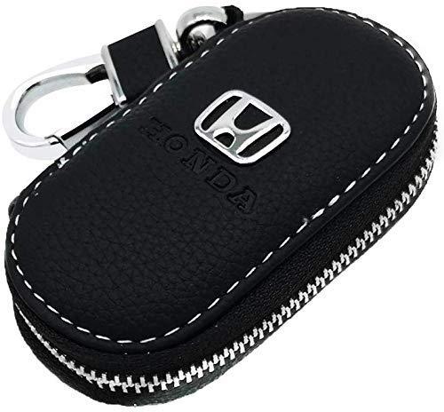 ABNB Echtes Leder-Auto-Schlüsselkasten Schlüsselanhänger Geldbörse Unisex Urlaub Geschenke mit Reißverschluss (Color : for Honda)