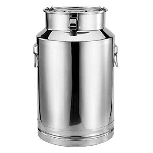 Pot Barril sellado de acero inoxidable 304, barriles de fermentación comercial, transporte barriles de vino y leche, latas de té (tamaño : 45 L)