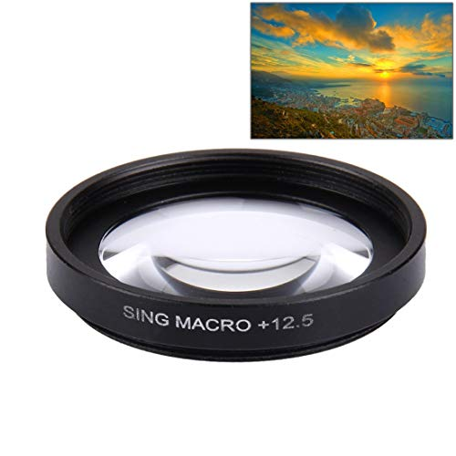RENYL Cámara Renyl JUNESTAR Professional 37mm 12.5X Macro Lens Filter + Lens Protective Cap for GoPro y Xiaomi Xiaoyi Yi Sport Action Camera