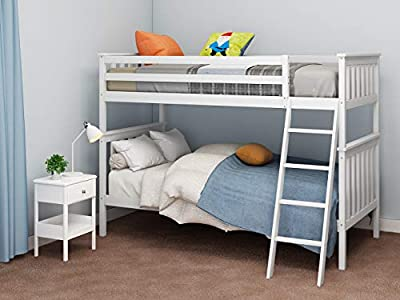 Wooden Bunk Bed,3FT Sleeper Single Beds Frame for Kids Children Adults,Splits into 2 Singles For Bedroom Furniture