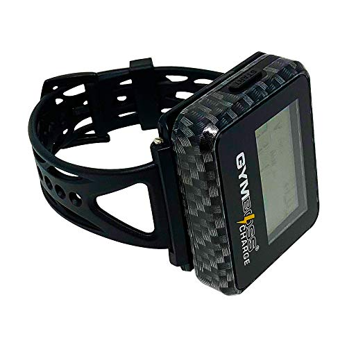 Gymboss Charge Interval Timer and Stopwatch & Watchstrap - Bundle (Carbon Black)