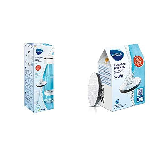 Brita Fill&Serve Bottiglia filtrante + Brita MicroDisc 1020107 Dischi Filtranti per Acqua
