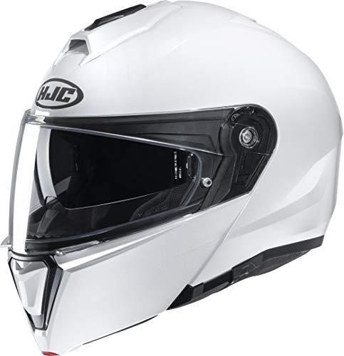 Casco moto HJC i90 Bianco Perla/PEARL WHITE, Bianco, S