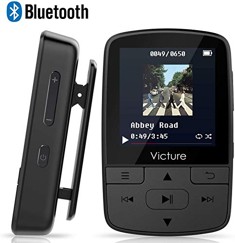 Victure 16GB Reproductor MP3 Bluetooth 4.1 con Clip Reproduc