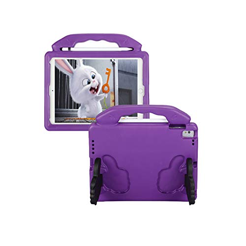 QZPM Kids Ipad Mini Case Light Weight Shockproof Handle Stand Protective Case for Suitable for Ipad Air1/2/PRO 9.7'/Ipad EVA Protective Case,Purple