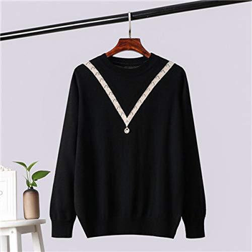 YUKNICO Herbst Winter Frauen Jacquard Crochet Sweater Lässige Oversize Jumper Knit Render Ungefütterte Oberteile