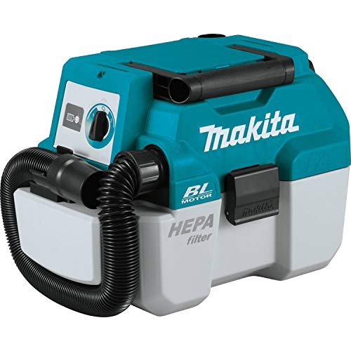 Makita XCV11Z Cordless 2 Gallon HEPA Filter Portable Wet/Dry Vacuum