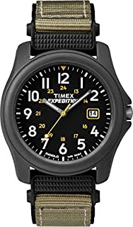 Timex Unisex T42571 Quartz Expedition Camper Watch with Black Dial Analogue Display and Green/Black Strap (B000SZNSVA) | Amazon price tracker / tracking, Amazon price history charts, Amazon price watches, Amazon price drop alerts