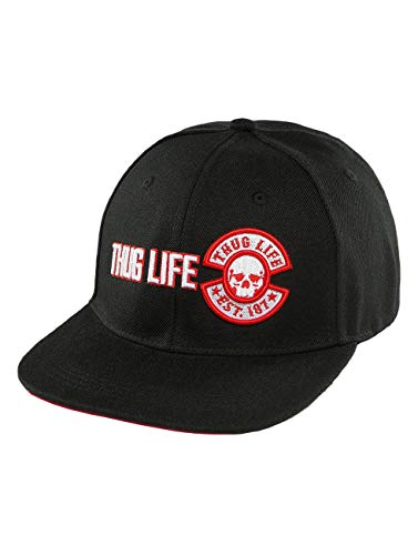 Thug Life Herren Snapback Caps Lux schwarz Verstellbar