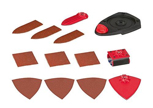 Skil Fox Aufsatz-Set (Grundplatte, Fingeraufsatz, flexibler Aufsatz, Lamellenaufsatz, 9 Blatt Schleifpapier) 2610Z06594