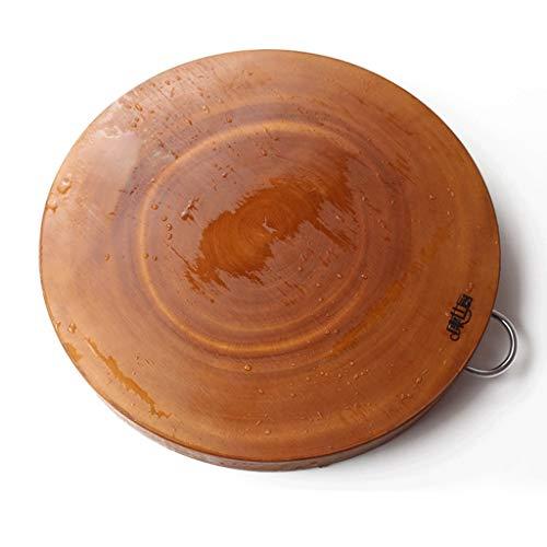 Chopping board Tabla de cortar resistente para cocina de frutas y cocina de madera maciza para el hogar con clasificación de verduras y embarcadero de utensilios de cocina (tamaño: 39 x 4 cm)