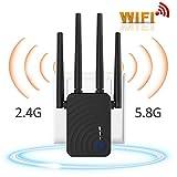 Amplificador De Señal Rango De 2,4 Y 5,8 GHz De Banda Dual De Enrutador Repetidor WiFi Extensor Inalámbrico De 1200 Mbps