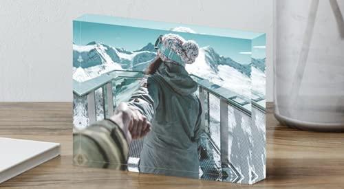 SAQUITOMAGICO Foto Impresa sobre Bloque de Metacrilato (acrílico) de 20 mm. Impresión UVI.- (10 x 15 cm).Puedes incluir Texto