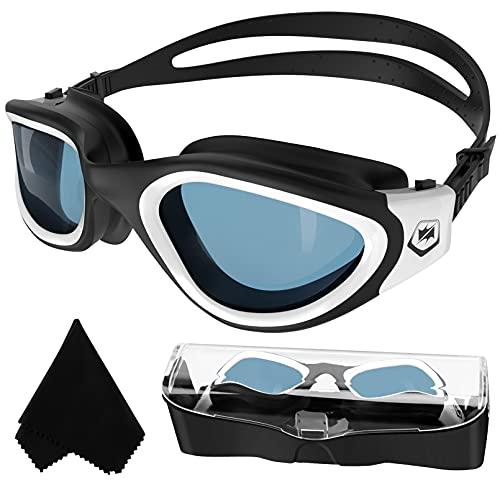 Occhialini da Nuoto Polarizzati, Anti-Appannamento Anti-perdite con Protezione UV Visione Chiara Facile da Regolare con Ponte Nasale Morbido per Uomo Donna Adulti e Adolescenti