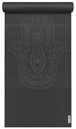 Yogistar Yogamatte Basic Art Collection Hand of Fatima Zen Black