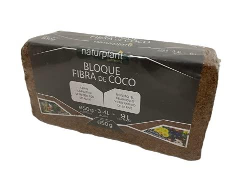 NATURPLANT COCPAST Fibra de Coco Pastilla Gramos, Marrón, 650 Gr