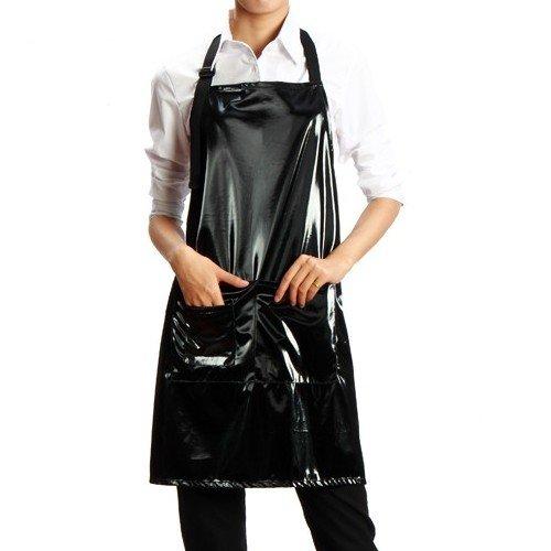 PVC schort zwart | Nagelstudio werkschort ter bescherming tegen vijlstof, gel, acryl en nog veel meer. | Schort voor Nail Art & Kappers | afwasbaar & desinfecteerbaar