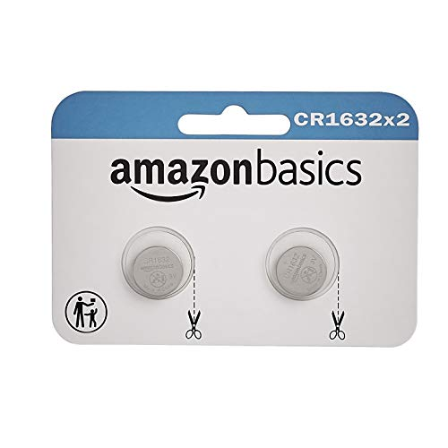 AmazonBasics CR1632 Lithium Coin Cell Battery - 2-Pack, Package may vary