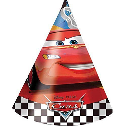 6 Party-Hütchen * CARS RSN * für Kindergeburtstag oder Mottoparty // Kinder Geburtstag Verkleidung