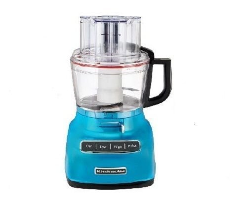KitchenAid KFP0930CL 9-Cup Food Processor with Exact Slice System and French Fry Disc - Crystal Blue