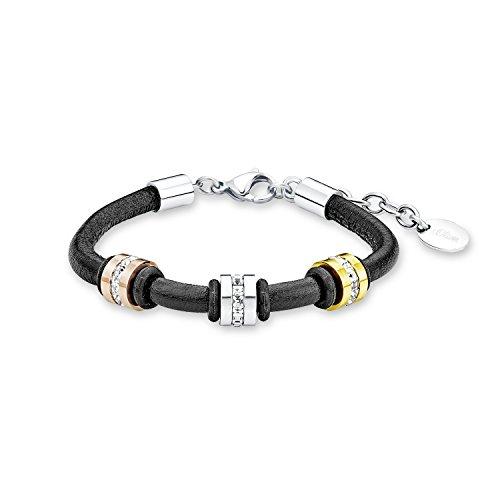 s.Oliver Armband für Damen, Edelstahl IP rose+gold