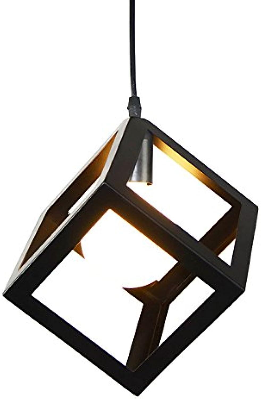 WoOnew Bügeleisen industrial wind Square Gang Wohnzimmer Esszimmer Pendelleuchten,Kronleuchter dekorative Beleuchtung Pendelleuchten,Kronleuchter