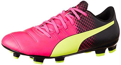Puma Herren EVO Power 4.3 FG 103585 Fußballschuhe, Pink (pink glo-safety yellow-black 01), 43 EU