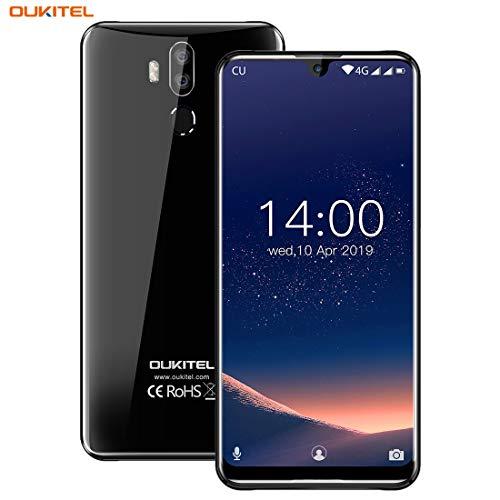 OUKITEL K9 Unlocked Cell Phones, 7.12' FHD+ Water Drop Screen Large Display 4GB RAM + 64GB ROM 16MP+8MP Dual Camera 6000mAh Battery Fast Charge Unlocked Smartphones,4G Android 9.0 Dual SIM Smartphone