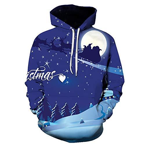 Zaima 3D Hoodies MäNner/Frauen Weihnachten Sweatshirt Herbst Winter Langarm Hoodie Hoodie Trainingsanzug Sweat Coat Casual Series Sweater Weihnachtsmann S-6Xl