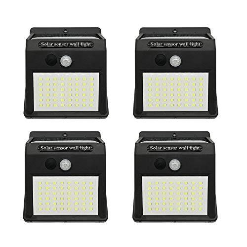 Lampen op zonne-energie voor buiten, 48 leds, bewegingsmelder, wandlamp, lichtgewicht, waterdicht, lange levensstraler, geschikt voor voordeur, achtertuin, hek Packof4 Packof4.