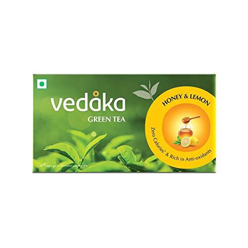 Amazon Brand - Vedaka Green Tea, Lemon and Honey, 25 Bags
