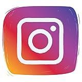 Adhesivo de vinilo autoadhesivo con icono de redes sociales de Instagram | Pegatina de coche | Calcomanía de ventana | Arte de pared | Exhibición de tienda | Decoración de arte | Letreros de puerta
