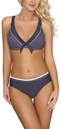 Verano Damen Bikini 2V3T1 (Graphit, 40)