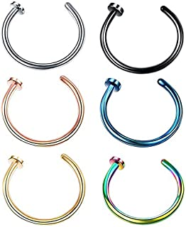 1 pcs U Shaped Nose Ring Hoop Septum Rings Stainless Steel Nose Piercing Piercing Ear Piercing Jewelry