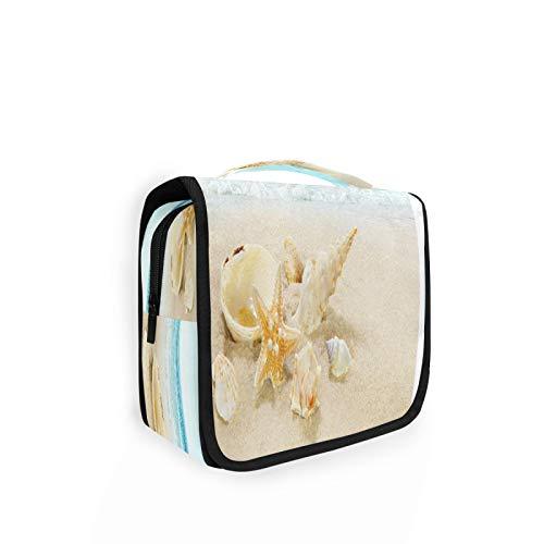 LNAGT Hanging Toiletry Bag Shell Starfish Makeup Cosmetic Organizer Bag Large Capacity Travel Bag for Women/Men-Items,Toiletries,Shampoo,Accessories Waterproof