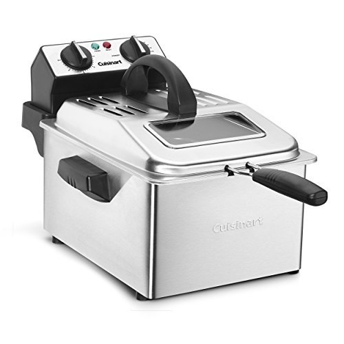 commercial deep fryer with removable oil container Cuisinart CDF-200P1 Tempura pot, 4 qt, stainless steel