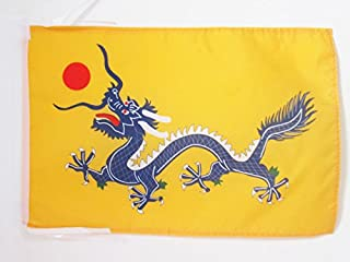 AZ FLAG Chinese Dragon Flag 18'' x 12'' Cords - Dragons of China Small Flags 30 x 45cm - Banner 18x12 in