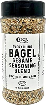 Everything Bagel Seasoning Blend Original XL 10 Ounce Jar Delicious Blend of Sea Salt and Spices Dried Minced Garlic Onion Flakes