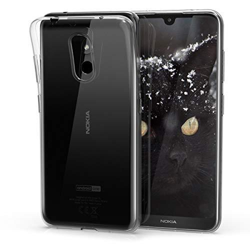 kwmobile Nokia 3.2 (2019) Cover - Custodia per Nokia 3.2 (2019) in Silicone TPU - Back Case Protezione Posteriore Trasparente