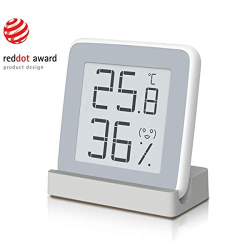 Thermometer-Hygrometer für den Innenbereich, digitales Thermo-Hygrometer, Luftfeuchtigkeit mit E-Ink-Display, HD-Bildschirm, Schweizer Hochpräzisionssensoren für Schlafzimmer, Büro, Wohnzimmer, Cafés