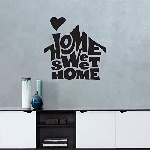 """Adesivi murali moderni con scritte """"Home Sweet Home"""" decorazioni per la casa da parete e non solo"""