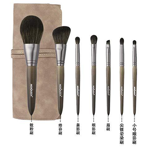 Pinceau De Maquillage Set Foundation Foundation Fard À Paupières Brush Tool Wool, Set Of 7 Brushes J