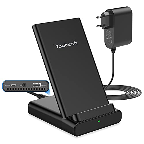 yootechWirelessCharger,40W3-in-1 USBC20WfüriPhone13/13 Pro/12/12Pro,GalaxyTab S7/S6,Kabelloser LadeständerfüriPhone11/11Pro/Xs Max,GalaxyS21/S20/Note 10/S8,USB-A5WfürAirPods/iWatch